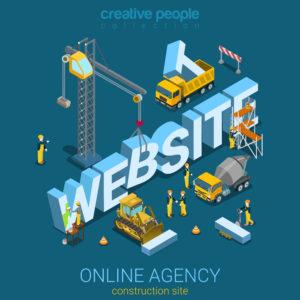 Travail d'agence marketing pour illustrer la création d'un site internet